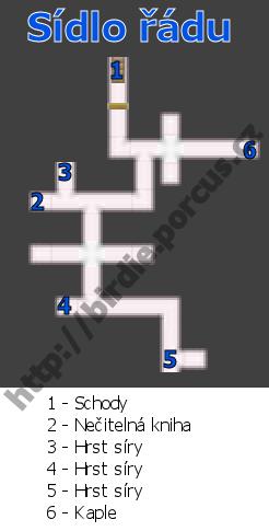 Mapa sídla řádu